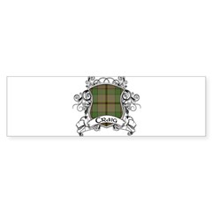 Craig Tartan Shield Sticker (Bumper)