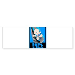 Baby Onboard - Blue Rectangle Sticker (Bumper)