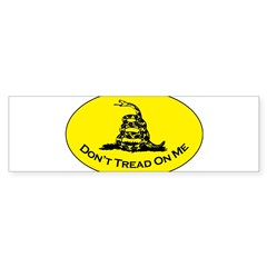 Don't Tread On Me Oval Sticker (Bumper)