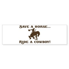 Save a horse Ride a cowboy Sticker (Rect.) Sticker (Bumper)