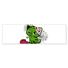 Zombie Kitty Rectangle Sticker (Bumper)