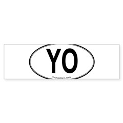 "Youngstown ""YO"" Sticker (Bumper)"