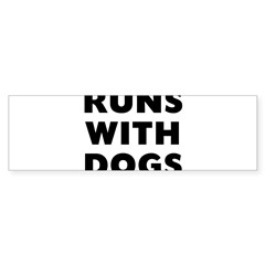 Runs Dog Sticker (Bumper)
