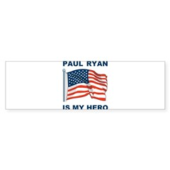 Paul Ryan is my Hero! Sticker (Bumper)