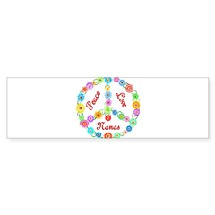 Peace Love Nanas Sticker (Bumper)