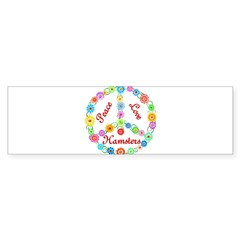 Peace Love Hamsters Sticker (Bumper)