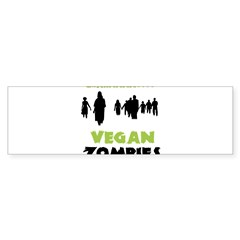 Vegan Zombie Sticker (Bumper)