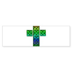 Glowing Celtic Cross Sticker (Bumper)
