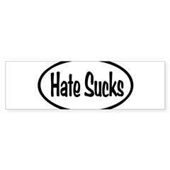 Hate Sucks Oval Sticker (Bumper)