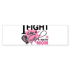 Fight Like A Girl Breast Cancer Sticker (Bumper)