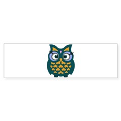 Retro Owl Sticker (Bumper)