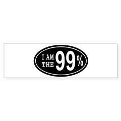 I am the 99 Percent Sticker (Bumper)