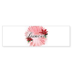 Dancer Pink Snow Flower Sticker (Bumper)