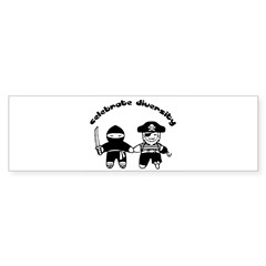Celebrate Diversity rectangular Sticker (Bumper)