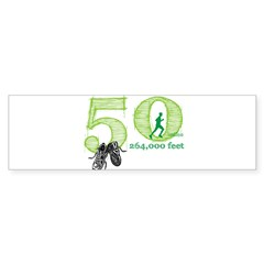 50 Mile Ultra Marathon Men Sticker (Bumper)