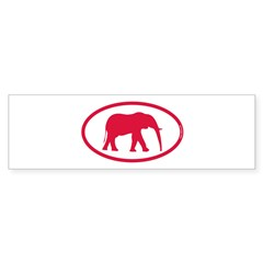 Alabama Red Elephant II Sticker (Bumper)