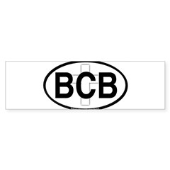 Baker's Chapel Oval Sticker (Bumper)