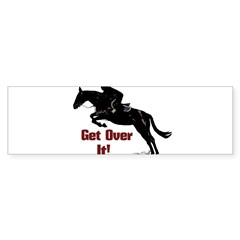 Get Over It! Horse Jumper Sticker (Bumper)