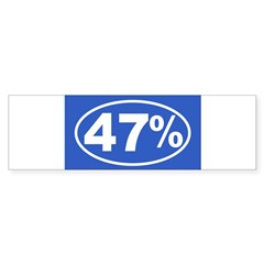 47 Percent Sticker (Bumper)