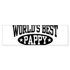 World's Best Pappy Sticker (Bumper)