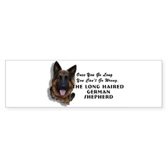 New Item! Long Haired German Shepherd Sticker (Bumper)