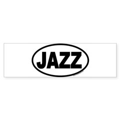 JAZZ Euro Oval Sticker (Bumper)