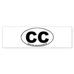 Cape Cod, MA Oval Sticker (Bumper)