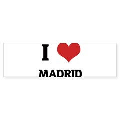 I Love Madrid Rectangle Sticker (Bumper)