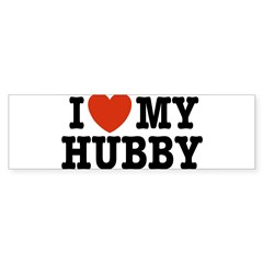 I Love My Hubby Rectangle Sticker (Bumper)