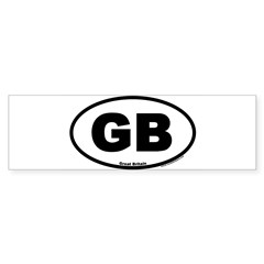 Great Britain GB Euro Oval Sticker (Bumper)