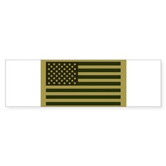 American Flag Sticker (Drab) Sticker (Bumper)