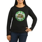 Wet Pond Frog Women's Long Brown T-Shirt