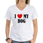 Love My Dog Women's V-Neck T-Shirt