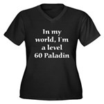 Level 60 Paladin Women's Plus Size V-Neck Dark Tee