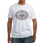 Green-eyed Cat Fitted T-Shirt