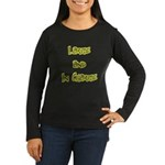 Large In Charge Women's Long Sleeve Black T-Shirt