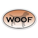 Labrador Woof Oval Sticker
