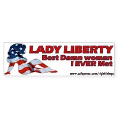 Lady Liberty Patriotic Sticker (Bumper)