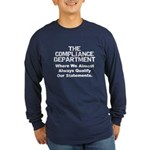 Qualified Compliance Long Sleeve Dark T-Shirt