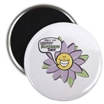Happy Mother's Day Purple Flower Magnet