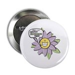Happy Mother's Day Purple Flower Button
