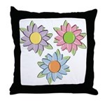 Pretty Mother's Day Cartoon Flowers Throw Pillow
