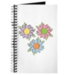 Pretty Mother's Day Cartoon Flowers Journal