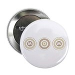 """Cool Mod Mom Dots Mother's Day 2.25"""" Button (10 pa"""