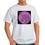 Purple Unicorn Ash Grey T-Shirt