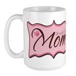 Pink World's Best Mom Plaque Large Mug