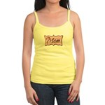 Pink World's Best Mom Plaque Jr. Spaghetti Tank