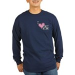 I Love Heart My Mom Mother's Day Long Sleeve Dark