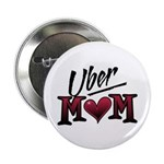 "Uber Mom Mother's Day Heart 2.25"" Button (10 pack)"