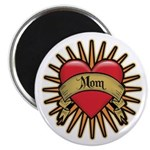 "Red Heart Tattoo Mom Mother 2.25"" Magnet (100 pack"